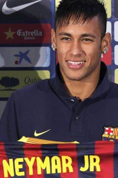 Platz 6: Neymar. 2013 für 86,2 Millionen Euro vom FC Santos zum FC Barcelona. (Bild: Albert Olive / Keystone)
