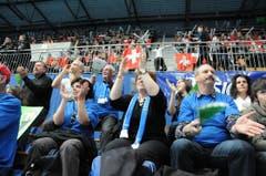 Tolle Stimmung am Finalspiel in Bern. (Bild: Rita Kohn)