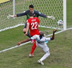 Der Wiler Fabian Schär kam zu seinem ersten WM-Einsatz. (Bild: Keystone)