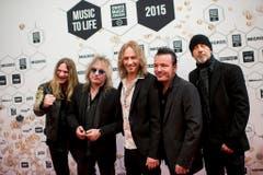 Seit Jahrzehnten erfolgreich: Die Band Gotthard mit dem aktuellen Sänger Nic Maeder (Mitte). (Bild: Keystone)
