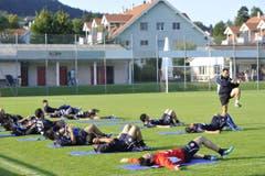 Training von Spitzenfussballern im idyllischen Abtwil. (Bild: Hanspeter Schiess)