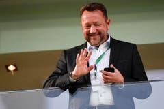 """""""Ich fürchte nicht um meinen Job."""" Stefan Hernandez, damals Präsident des FC St. Gallen, im November vor der Generalversammlung des Clubs. (Bild: Keystone)"""