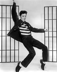 Elvis Presley im Film «Jailhouse Rock» (1957). (Bild: Keystone)