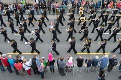 Der Musikverein Harmonie Oberriet. (Bild: Benjamin Manser)