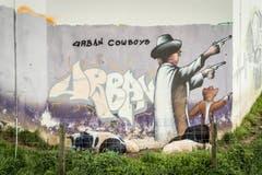 Urban Cowboys and Sheep Peace, aufgenommen am Bahntrassee Gossau - Flawil. (Bild: Hanspeter Schiess)