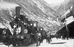 Die erste Gotthardlinie mit dem 15 Kilometer langen Tunnel wird im Jahr 1882 eröffnet. (Bild: Keystone)
