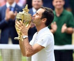 2017 Wimbledongegen Marin Cilic 6:3, 6:1, 6:4. (Bild: EPA/FACUNDO ARRIZABALAGA)