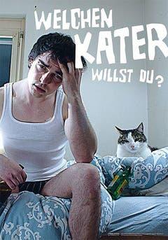 Büsi oder Bier? Anja Brönnimann (Kraftkom GmbH) designte das Plakat zusammen mit Christof Bold, Dominik Germann und Dennis Keller (SZ Weitsicht Märstetten). (Bild: pd)