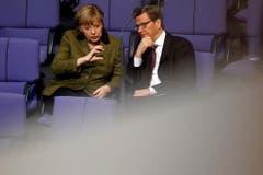 Im Gespräch mit Bundeskanzlerin Angela Merkel. (Bild: Keystone)