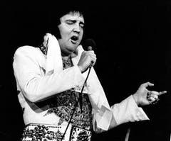 Elvis kurz vor seinem Tod. (23. Mai 1977) (Bild: Keystone)