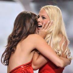 Der grosse Moment: Linda Fäh ist Miss Schweiz! (Bild: Keystone)