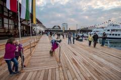 Grosszügig angelegt: die neue Hafenplattform. (Bild: Reto Martin)