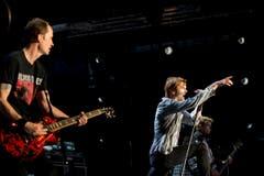 Die Düsseldorfer Band rockt das Sittertobel. (Bild: Luca Linder)