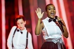 """Licia Chery aus Genf präsentiert ihren Song """"Fly"""". (Bild: Keystone)"""