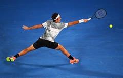 Der spätere Sieger Roger Federer in action. (Bild: Keystone)
