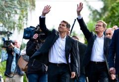 Stärkte Westerwelle in allen Belangen den Rücken: Sein Mann Michael Mronz (links). (Bild: Keystone)