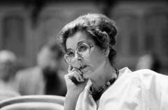 Eine nachdenkliche Lilian Uchtenhagen im Herbst 1987 im Nationalratssaal. (Bild: Keystone)