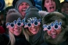 Auf dem Times Square in New York wird ebenfalls Silvester gefeiert. (Bild: Keystone)