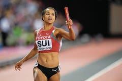 Salomé Kora, Arnegg, WM-Fünfte mit der 4 x 100-m-Staffel. (Bild: JEAN-CHRISTOPHE BOTT (KEYSTONE))