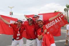 Gooal! Tatsächlich schoss die Schweiz Tore. (Bild: Keystone)