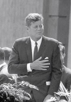 US-Präsident John Fitzgerald Kennedy in West Berlin. (Bild: Keystone)