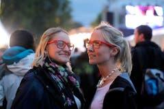 Zwei zufriedene Besucherinnen. (Bild: Stefan Beusch)