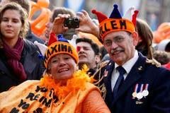 Sie wollen auch Maxima und Willem-Alexander sein. (Bild: Keystone)