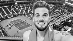 Etienne Ettlinger besuchte das Tennisturnier von Indian Wells und sah die Partie zwischen Roger Federer und Rafael Nadal. (Bild: pd)