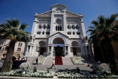 In der Kathedrale von Monaco wurden die Zwillinge getauft. (Bild: Keystone)