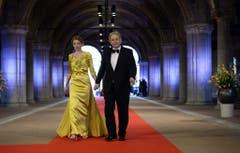Amsterdams Bürgermeister Eberhard van der Laan mit seiner Gattin. (Bild: Keystone)
