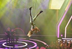 Helene Fischer mag extravagante Auftritte. Hier an der Echo-Verleihung 2013. (Bild: Keystone)