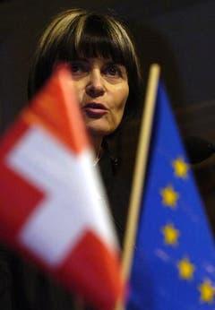 War Calmy-Rey stets ein Herzensanliegen: das Verhältnis zwischen der Schweiz und der EU. (Bild: Keystone)