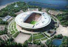 St. Petersburg (5,3 Mio. Einwohner)Stadion: Krestowski-StadionKapazität: 68'134Kosten (Neubau): ca. 980 Mio. FrankenEröffnung: Juni 2017Klub: Zenit St. PetersburgWM-Spiele: Gruppenphase (4), Achtelfinal (1), Halbfinal (1), Spiel um Platz 3 (Bild: Handout Fifa)