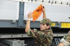 Explosiver Inhalt im Lastwagen. (Bild: Rudolf Hirtl)