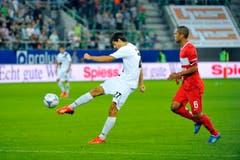 Marco Mathys gegen Moskaus Rafael de Souza Pereira. (Bild: Urs Bucher)
