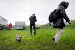 Hund und Frauchen müssen abzotteln - sämtliche Wettbewerbe sind ersatzlos gestrichen worden. (Bild: Urs Bucher)