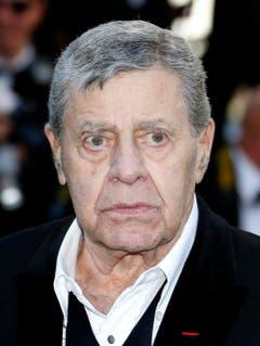 Er kann auch ernst dreinschauen: Jerry Lewis im Jahr 2013 in Cannes. (Bild: Keystone)