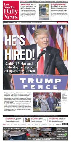 """Die amerikanische Zeitung """"Los Angeles Daily News"""". (Bild: Printscreen)"""