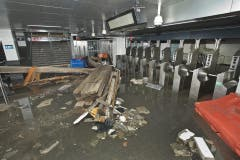 Die South Ferry U-Bahn-Station nach dem Sturm. (Bild: Keystone)