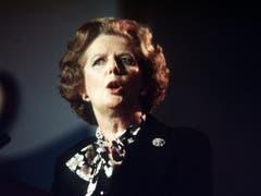 Margaret Thatcher mochte ihren Spitznamen «Eiserne Lady». Erfunden wurde er von Journalisten der sowjetischen Militärzeitung Krasnaja Swesda - als eine Antwort auf Thatchers Verbalattacke gegen die Sowjetunion (1985). (Bild: Keystone)