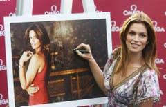 Wie viele Autogramme die US-Schönheit in ihrer Karriere wohl schon geschrieben hat? (Bild: Keystone)