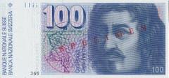 Abgebildet auf der 100er-Note ist Architekt Francesco Borromini. (Bild: Archiv der SNB)