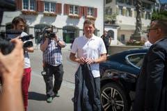 Der frühere deutsche Radrennfahrer Jan Ullrich muss sich wegen seiner Blaufahrt vor Gericht verantworten. (Bild: Benjamin Manser)