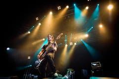 John Calabrese, Bassist von Danko Jones. (Bild: Benjamin Manser)