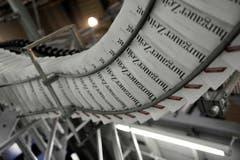 Die neue Thurgauer Zeitung ist gedruckt. (Bild: Reto Martin)