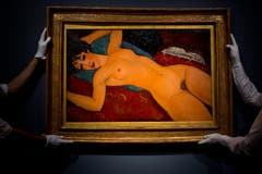 170,4 Mio (2015): Amedeo Modigliani - «Liegender Akt» (Auktion). (Bild: Ben Pruchnie (Getty Images Europe))
