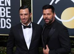 Ricky Martin (rechts) erschien mit seinem Lebenspartner Jwan Yosef. (Bild: Keystone)