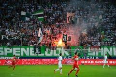 St.Galler Fans. (Bild: Urs Bucher)