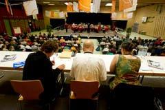 Blick vom Jurytisch zur Aufführung. (Bild: Michel Canonica)