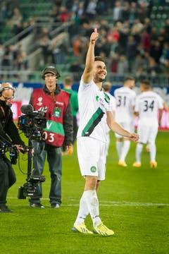 Goran Karanovic bedankt sich bei den Fans. (Bild: Michel Canonica)